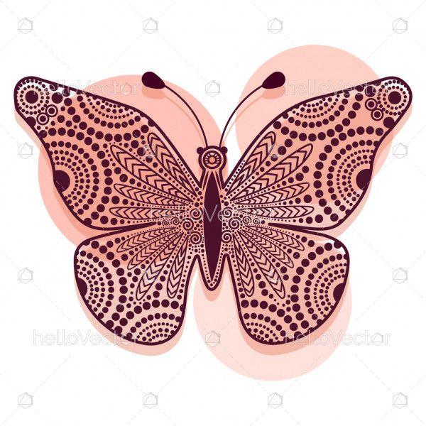 Dot decorative butterfly illustration