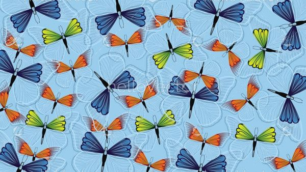 Butterfly wallpaper background vector