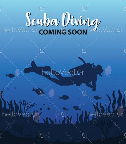 Scuba diving coming soon template