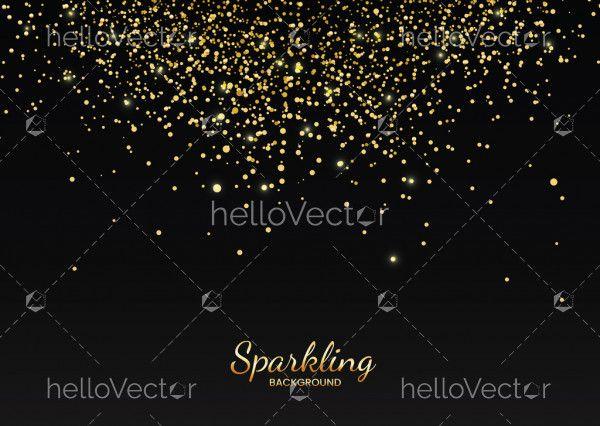 Golden glitter decorative background