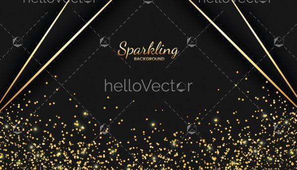 Luxury golden sparkle background