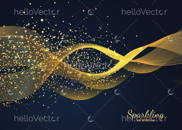 Abstract shiny wave glitter background