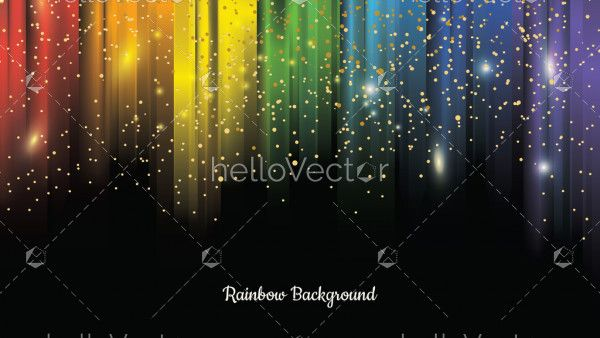 Colorful rainbow background with sparks effect