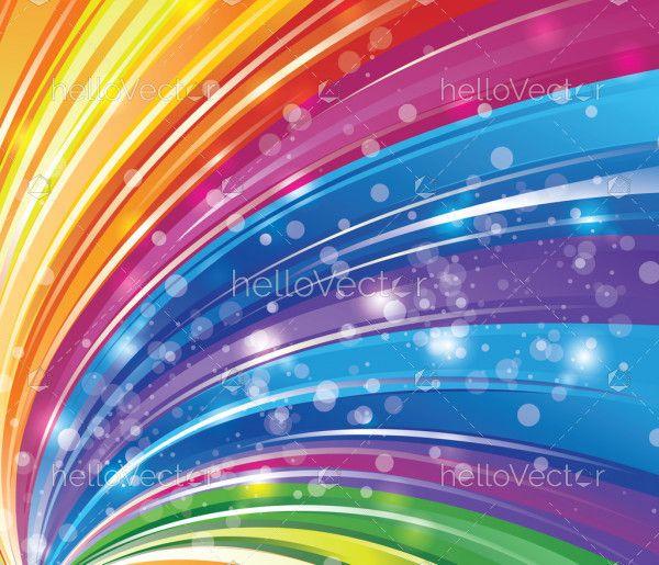 Abstract shiny rainbow background