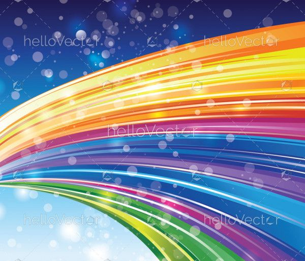 Bright rainbow background with shiny particles