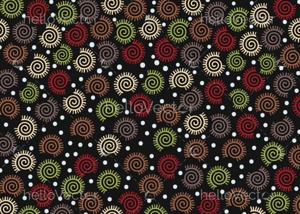 Colorful circles fabric texture seamless pattern