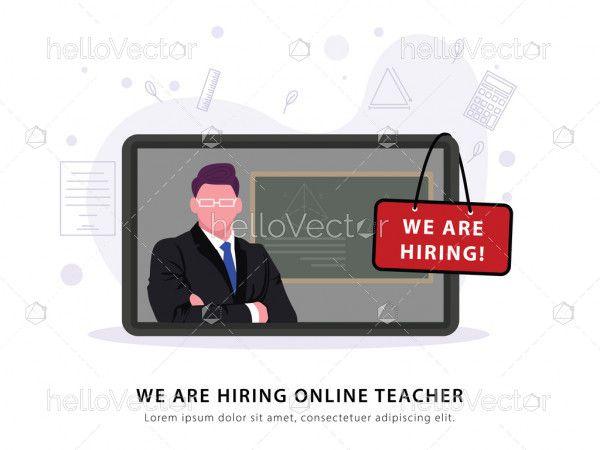 Teacher job vacancy banner template