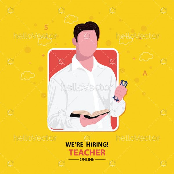 We are hiring template for teacher