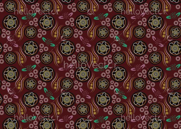 Aboriginal art vector background for fabric and textile
