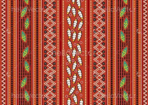 Aboriginal art vector textile pattern design
