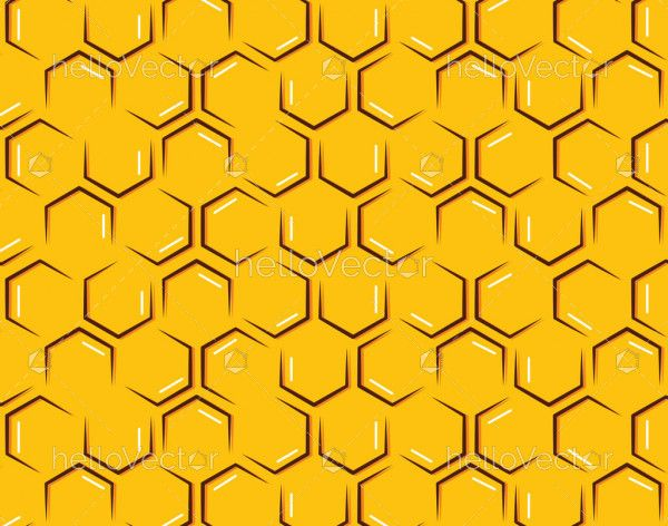 Abstract honeycomb seamless pattern background