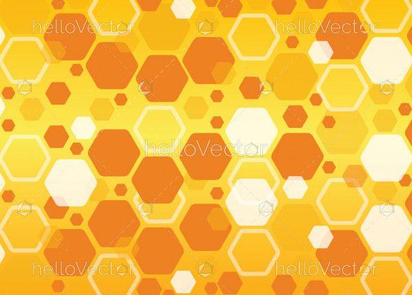 Abstract hexagonal honey comb background