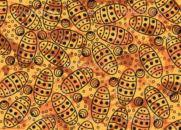 Aboriginal dot art seamless pattern for fabric and textile