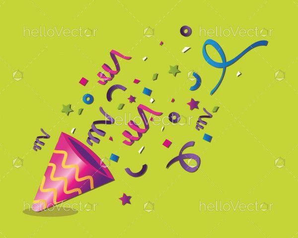 Birthday celebration with confetti clipart