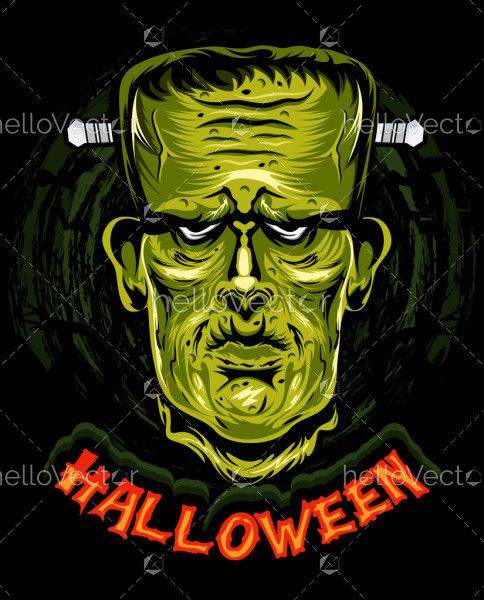 Frankenstein head skull