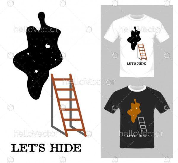 Let's Hide Graphics Vector - T-shirt graphic design