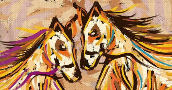 Couple Horse Painting