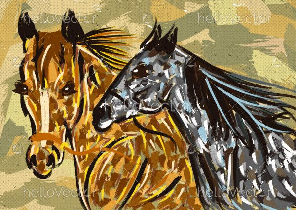 Two Horses Painting