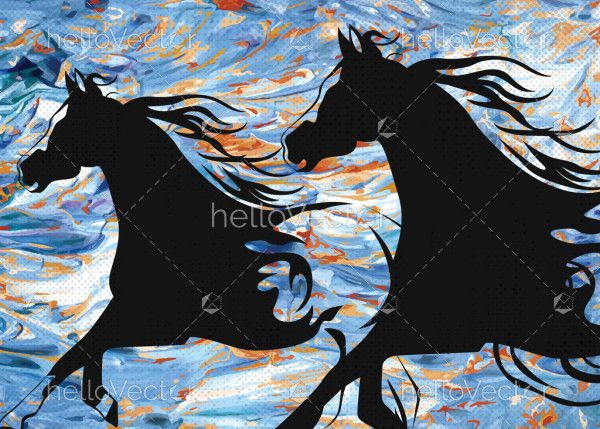 Pair of horse painting