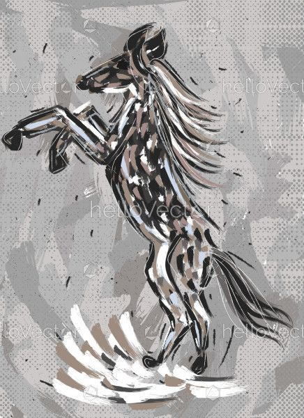 Rearing Horse Painting