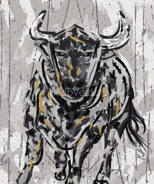 Bull Painting Abstract