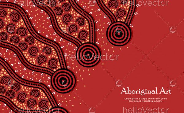 Aboriginal dot art banner background