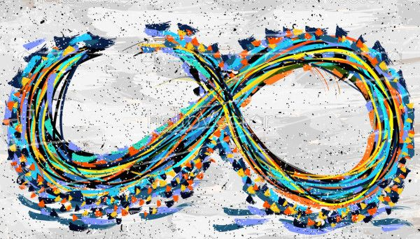 Abstract infinity painting