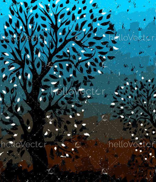 Tree Nature Painting
