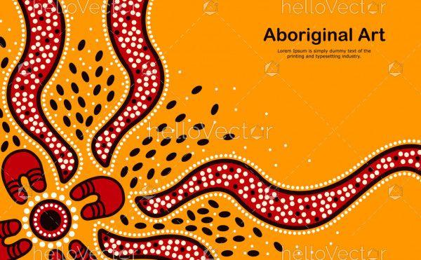 Aboriginal art banner background