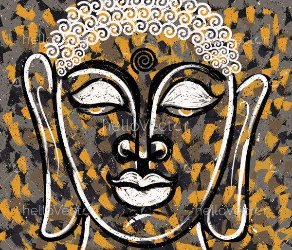 Head of Lord Buddha Digital Painting