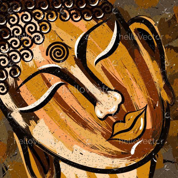 Beautiful Sleeping Buddha Face Painting
