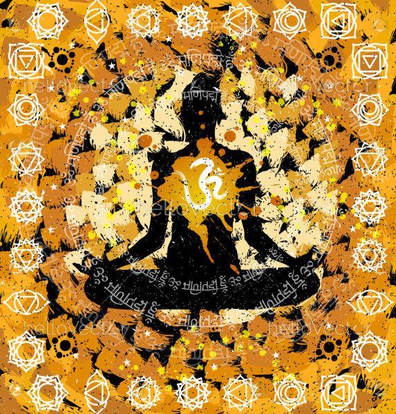 Yoga, Meditation Abstract Painting