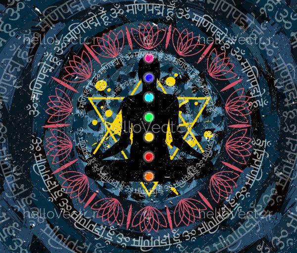 Chakra Meditation Painting