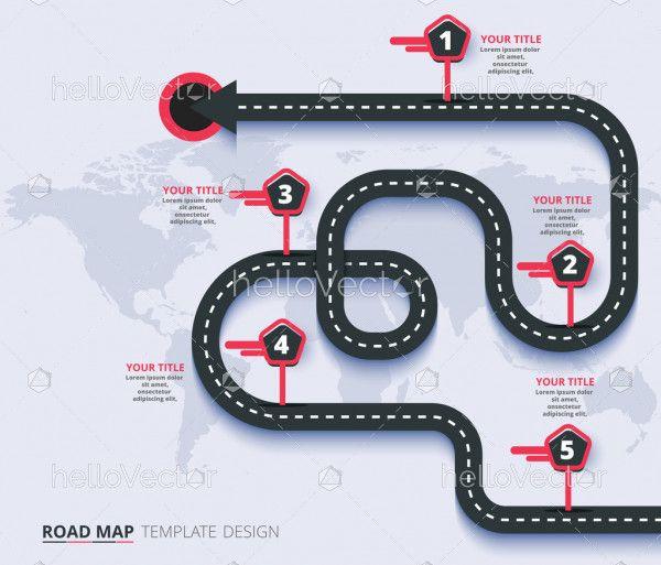 Highway road infographic