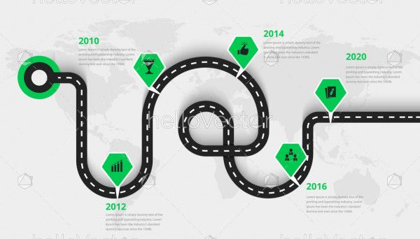 Infographic business roadmap