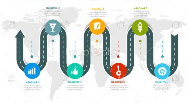 Roadmap Business Infographic