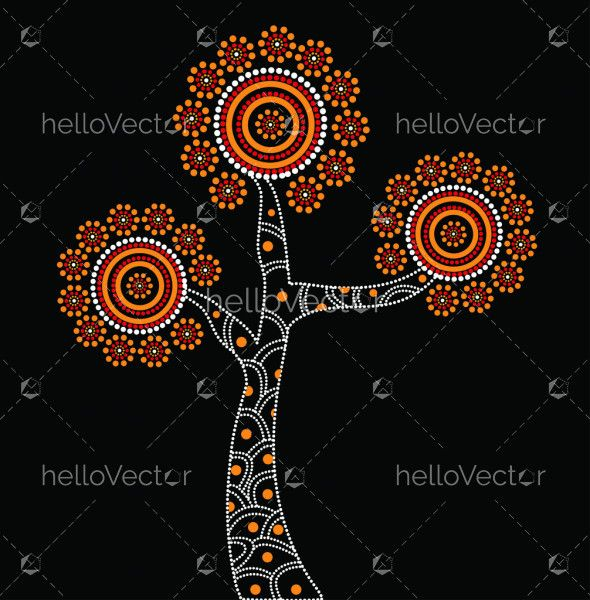 Aboriginal Tree Illustration