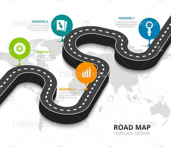 Road Trip And Journey Route Infographic