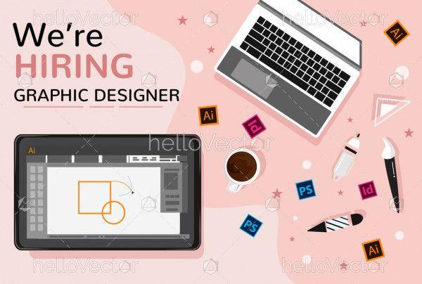We are hiring job vacancy poster