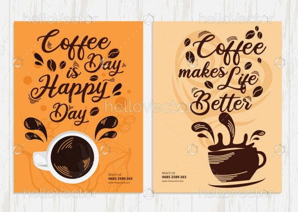 Coffee shop flyer & Ad template