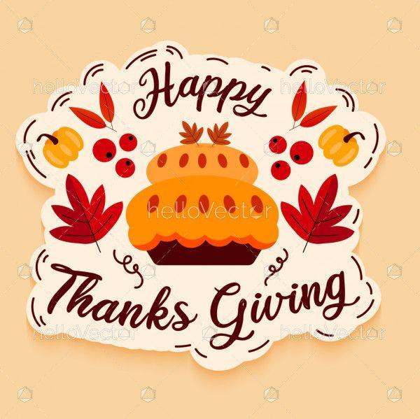 Thanksgiving greeting design