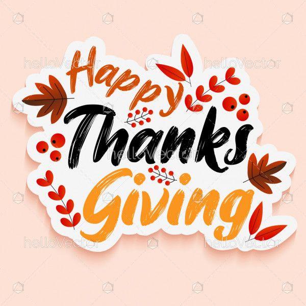 Happy thanksgiving sticker design