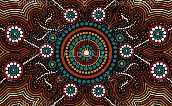 Aboriginal design for fabric and textile