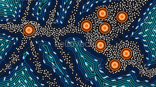 Aboriginal background of dreaming art