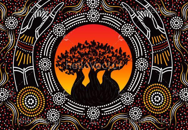 Aboriginal boab tree painting
