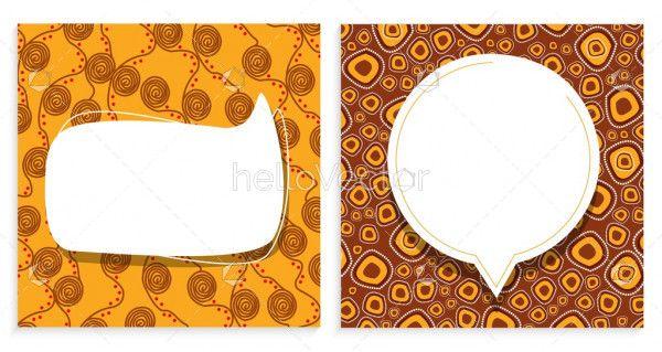 Social media template with aboriginal design