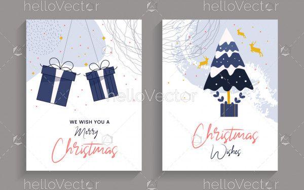 Modern minimalist Christmas cards