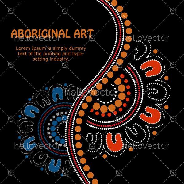 Aboriginal art vector Banner.