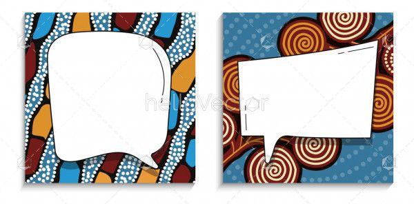 Banner template with aboriginal design