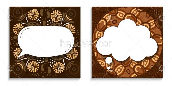 Editable blank template with aboriginal design